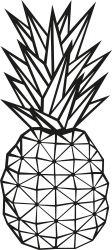 Wandschmuck Ananas | Schwarz