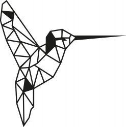 Wanddecoratie Vogel | Zwart