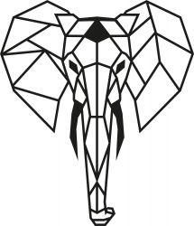Wanddecoratie Olifant | Zwart