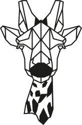 Wanddecoratie Giraf | Zwart