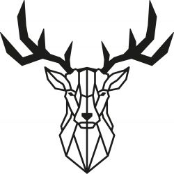 Wall Decoration Deer 2 | Black