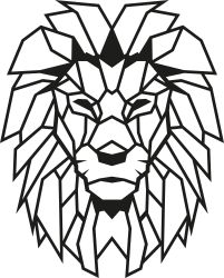 Wall Decoration Lion | Black