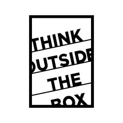Wanddecoratie Think Outside The Box | Zwart
