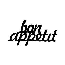 Wanddecoratie Bon Appetit | Zwart