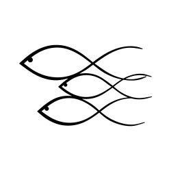 Wanddecoratie Vissen | Zwart