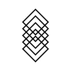 Wanddecoratie Geometrie | Zwart