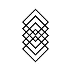 Wandschmuck Geometrie | Schwarz