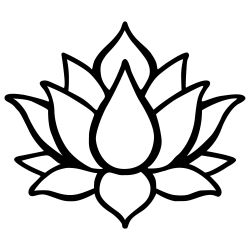 Wall Decoration Lotus Flower 1 | Black