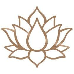 Wandschmuck Lotus 1 | Kupfer
