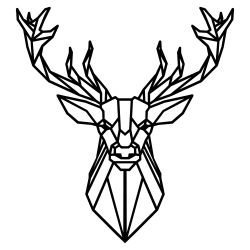 Wall Decoration Deer 4 | Black