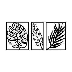 Wandschmuck Blatt 2 | Schwarz