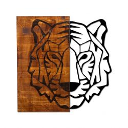 Wall Deco Tiger 1 | Walnut Black