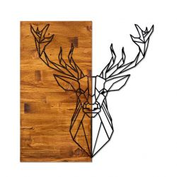 Wall Deco Deer 1 | Walnut Black