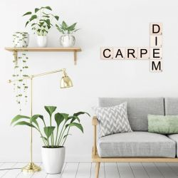 Wall Deco Scrabble Set Carpe Diem