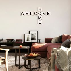 Wall Deco Scrabble Set Welcome Home