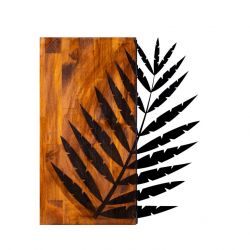 Wall Deco Leaf 3 | Walnut Black