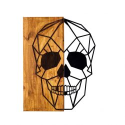 Wall Deco Skull | Walnut Black