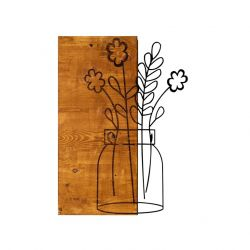 Wall Deco Cicek 2 | Walnut Black