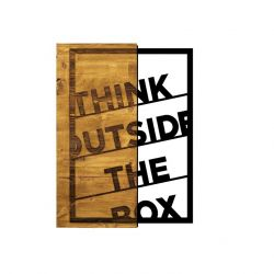 Muurdecoratie Think Outside the Box | Walnoot Zwart