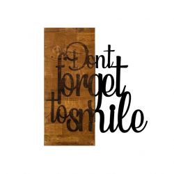 Muurdecoratie Don't Forget to Smile | Walnoot Zwart