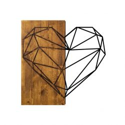 Wall Deco Heart | Walnut Black