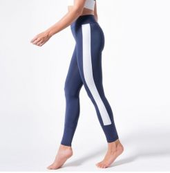 Fitness-Yoga Legging 7055 | Marine-Weiß