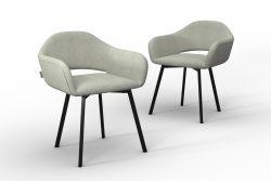 Set Of 2 Chairs Oldenburg | Cream -Linen Touch