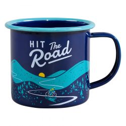 Mug Enamel | Hit The Road | Blue