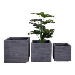 3er-Set Pflanzer Auckland | Grau