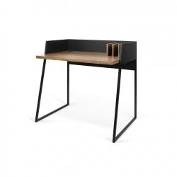 Desk Volga | Pure Black & Walnut