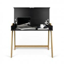 Schreibtisch Aura | Schwarz & Eiche