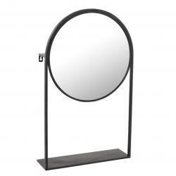 Spiegel auf Fuß | Schwarz