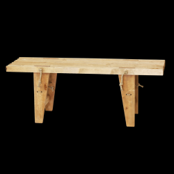 Outdoor EcoBench 120 Birch Oiled | Light Wood