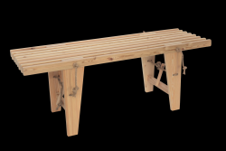 Outdoor EcoBench 120 Larch | Light Wood