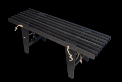 Outdoor EcoBench 120 Pine Wood | Black