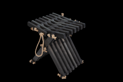 Outdoor Stool Eco Butterfly | Black