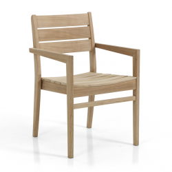 Stackable Chair Chios | Light Wood