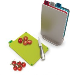 Chopping Boards Index Mini Set of 4 with Case | Silver