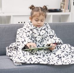 Children's Snug Blanket Symbols Snug | White