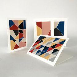 Wunschkarten Geo | 8er-Set