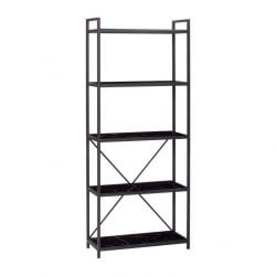 Shelf with 5 Shelves | Black