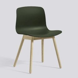 About A Chair AAC12 | Soaped Solid Oak & Green