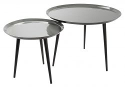 Nesting Tables BOB | Light Grey/Grey
