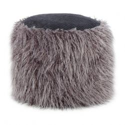 Fur Pouf Bernie 333 | Dark Grey-Black