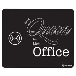 Mouse Pad with Wireless Charger | Queen of the Office