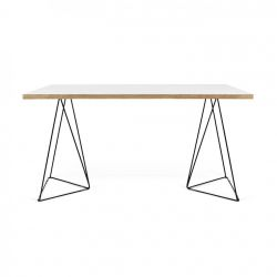 Schreibtisch Flow | Weiß & Schwarz