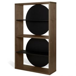 Bookcase Zero | Walnut, Black