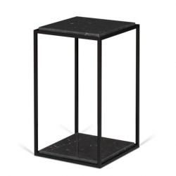 Side Table Forrest | Black Marble, Black Legs