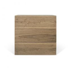 Chest 3 Drawers Aurora | Walnut