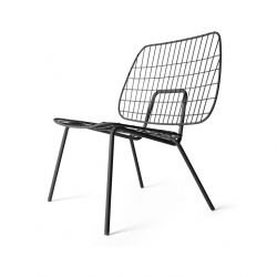 WM String Lounge Chair | Schwarz